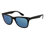 Ray-Ban Wayfarer Liteforce Blue Mirror (Black frame / Blue Mirror lenses)