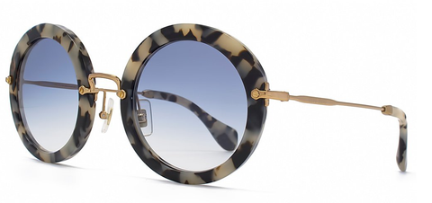 Miu Miu 13NS (White Havana Demi Shiny frame / Blue Gradient lenses)