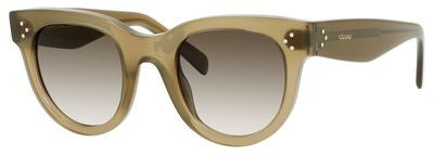 Céline 41053/S (Military Green frame / Brown Degrade lenses)