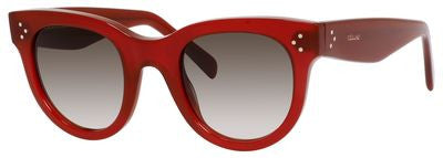 Céline 41053/S (Burgundy frame / Brown Degrade lenses)