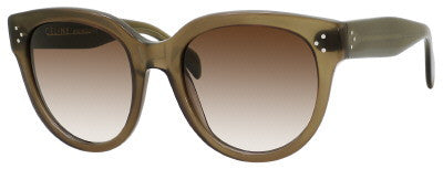 Céline 41755/S (Military Green frame / Brown & Gray Gradient lenses)