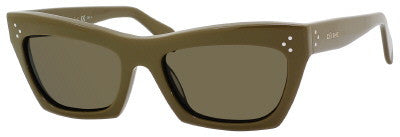 Céline 41802/S (Green frame / Brown lenses)