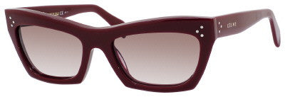 Céline 41802/S (Opal Burgundy frame / Brown Gradient lenses)