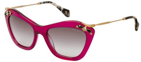 Miu Miu 03PS Glow (Transparent Cyclamen frame / Grey Gradient lenses)