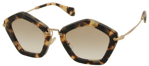 Miu Miu 06OS (Yellow Havana frame / Green Gradient lenses)