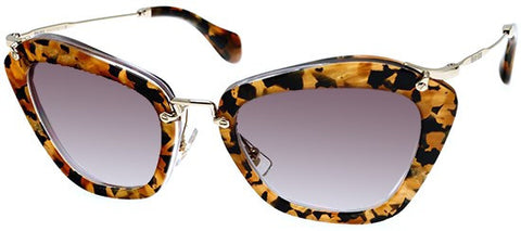 Miu Miu 10NS (Marble Yellow Havana frame / Grey Gradient lenses)