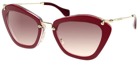 Miu Miu 10NS (Red frame / Pink-Grey Gradient lenses)