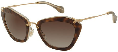 Miu Miu 10NS (Beige Havana frame / Brown Gradient lenses)