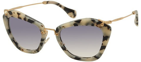 Miu Miu 10NS (Dappled Havana frame / Blue Gradient lenses)