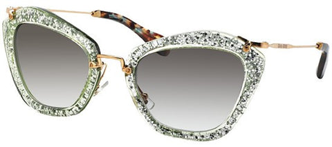 Miu Miu 10NS (Green & Silver frame / Light Green Gradient lenses)