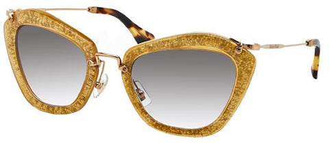 Miu Miu 10NS (Dark Yellow & Silver frame / Grey Gradient lenses)