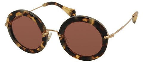 Miu Miu 13NS (Yellow Havana frame / Bordeaux lenses)
