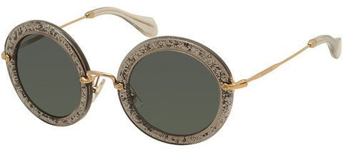 Miu Miu 13NS (Smoke & Glitter frame / Grey lenses)