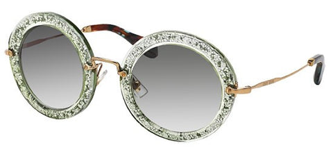 Miu Miu 13NS (Green & Silver frame / Light Green Gradient lenses)