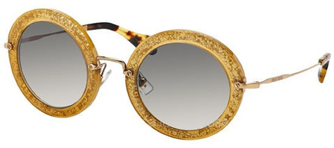 Miu Miu 13NS (Dark Yellow & Silver frame / Grey Gradient lenses)