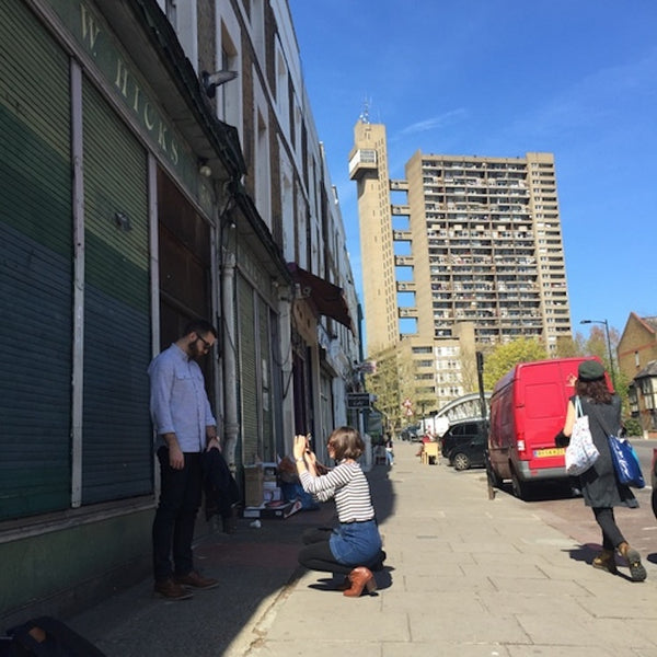 Trellick Tower - West London - Behind the scenes fashion shoot