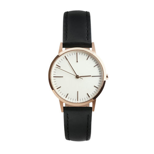 Rose Gold & Black Womens fte3015 Timepiece - Freedom To Exist - Luxury Unbranded Minimalist Watches