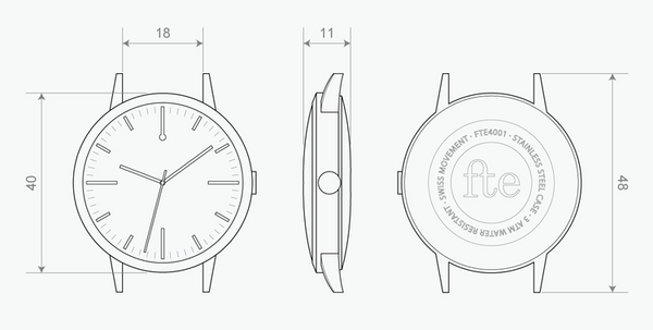 40 Edition - Freedom To Exist - Large Unisex Minimalist Watch