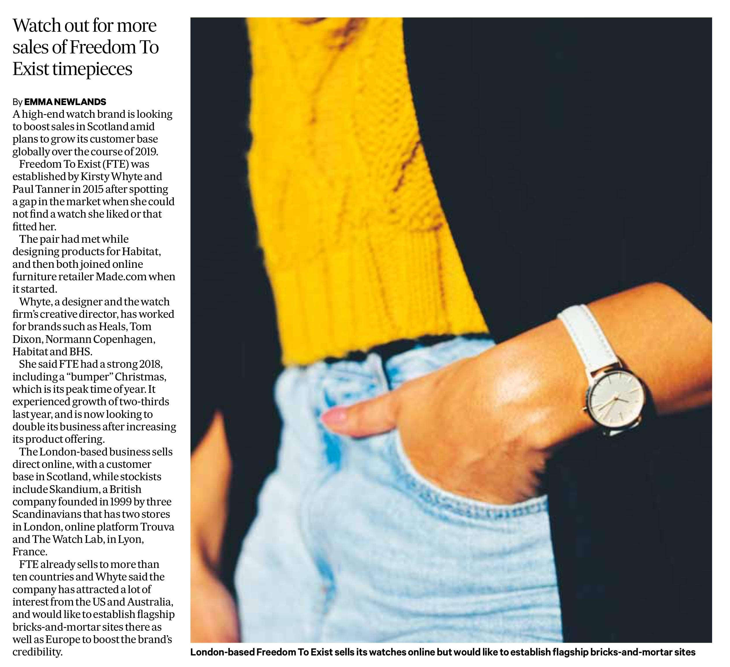 The Scotsman - Freedom To Exist Minimal Watches - Kirsty Whyte