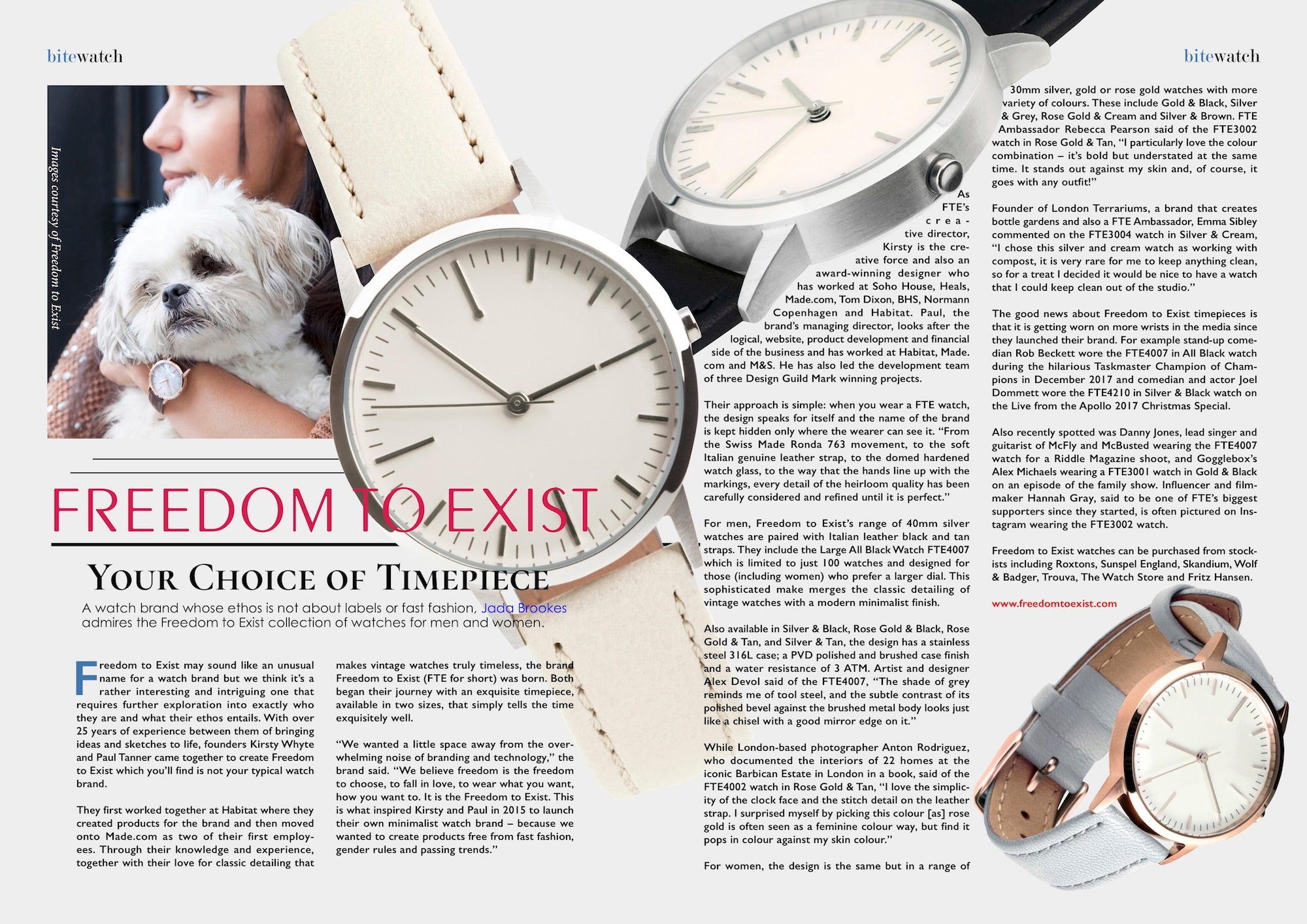 Bite Magazine - Freedom To Exist Watches