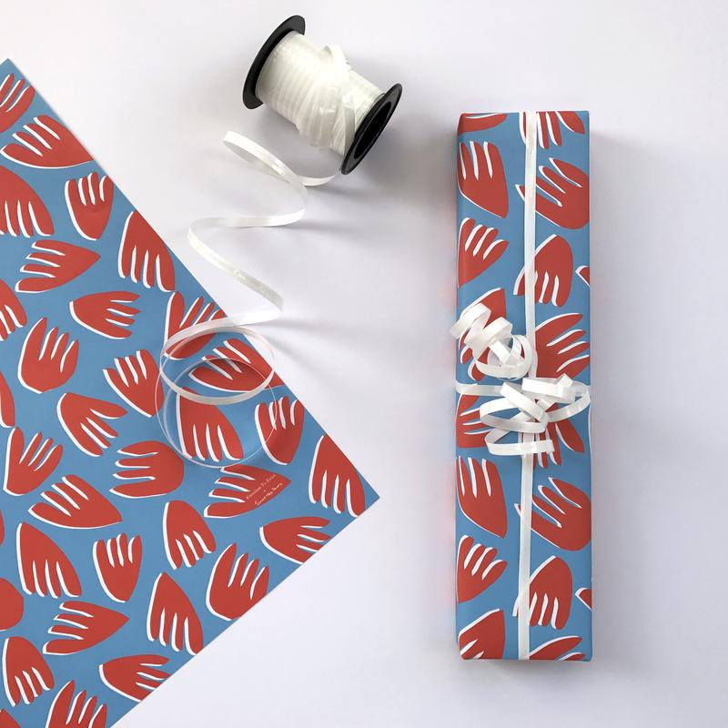 Free Gift Wrapping with bespoke designs by Sunny Todd Prints and a Black and White Design by The City Works for Freedom To Exist