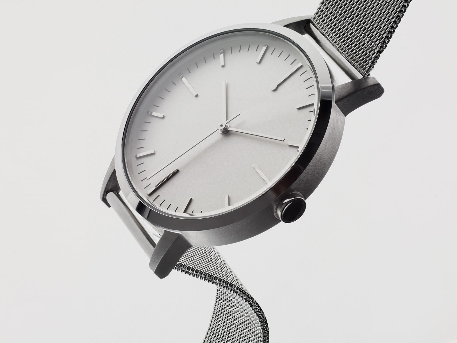 Silver Mesh Watch - Freedom To Exist - Ben Swanson - Unbranded Minimal No Logo