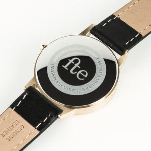 Simple Watch in a vintage minimal style. Gold & Black - Freedom To Exist - Kirsty Whyte & Paul Tanner