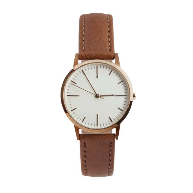 fte3002 - Rose Gold & Tan Watch