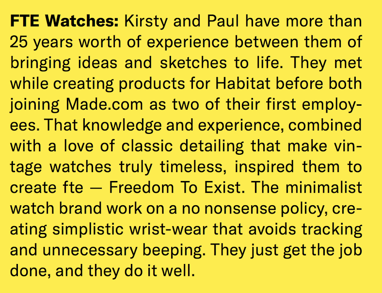 Freedom To Exist Watches - Boy George - Kirsty Whyte and Paul Tanner - December 2017