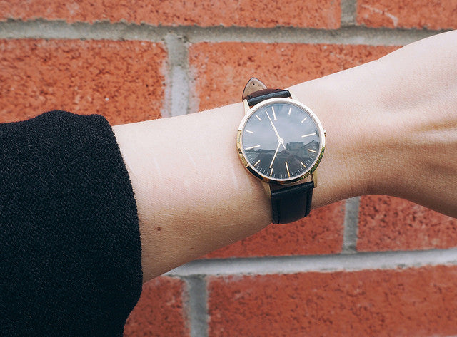 Being Little - Fashion Blog - Lyzi - Gold & Black Watch - fte3001