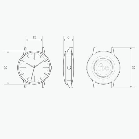 Freedom To Exist - Watch Specification Drawings