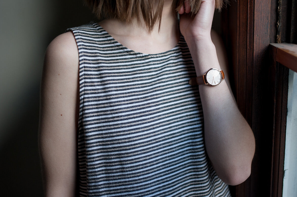 Rose Gold & Tan Ladies Watch - Emilie Szabo - Freedom To Exist Minimalist Watches