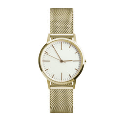 30mm Womens gold watch, white small dial unbranded minimalist watch - fte3200 -  Freedom To Exist