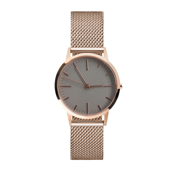 rose gold milanese mesh watch 30mm dial with 15mm strap - freedom to exist