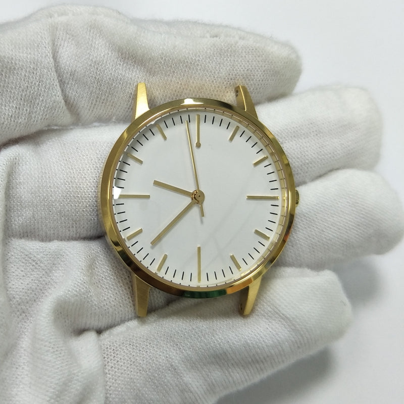Gold & Black Leather Watch - 30mm Womens unbranded vintage inspired minimalist - Freedom To Exist