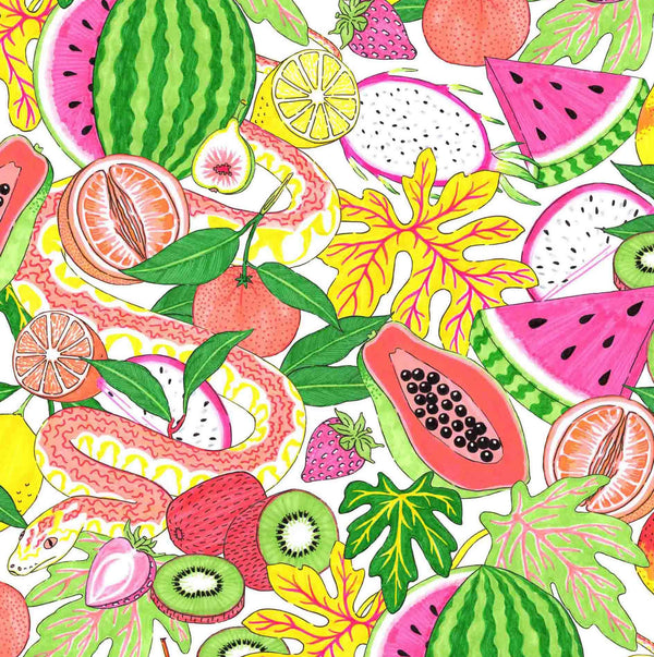 Jacqueline Colley - Free Gift wrapping -bright vegetable fruit illustration - Under £100 Watch