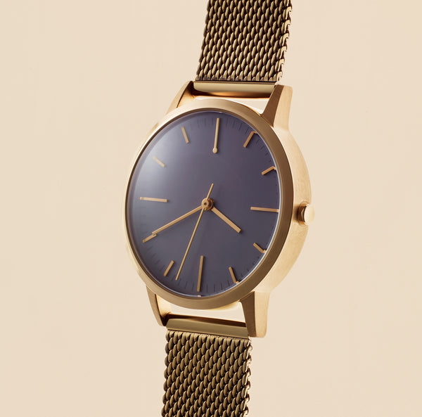 rose gold milanese mesh ladies watch - 30mm dial with 15mm strap