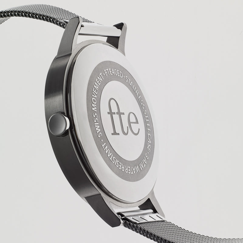 40mm Watch - Silver Milanese Mesh - Freedom To Exist
