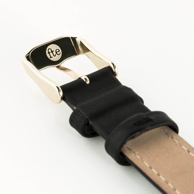 fte3001 30mm Gold & Black Womens / Ladies Minimalist Vintage inspired Watch
