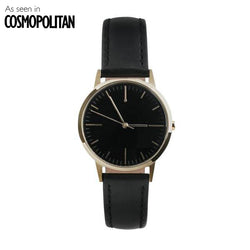 30mm Gold & Black Womens Watch