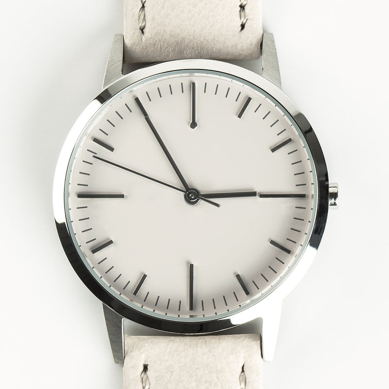 fte3004 Silver & Cream Nougat Leather Womens/Ladies Minimalist Vintage inspired Watch
