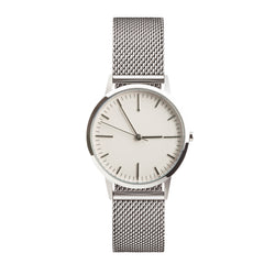 Silver ladies mesh watch 30mm dial with 15mm strap - freedom to exist minimal watches