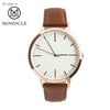 Rose Gold & Tan - Men's & Women's unbranded Minimalist Watch fte4002 - 40mm