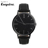 All Black Mens Watch - Gun Metal - Men's & Women's unbranded Minimalist Watch - fte - fte4007 - 40mm -