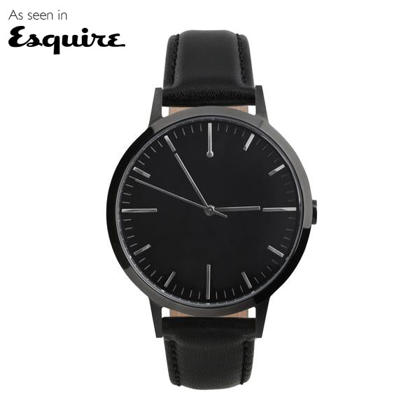 All Black Mens Watch - Men's & Women's unbranded simple Minimalist Watch - fte4007 - 40mm