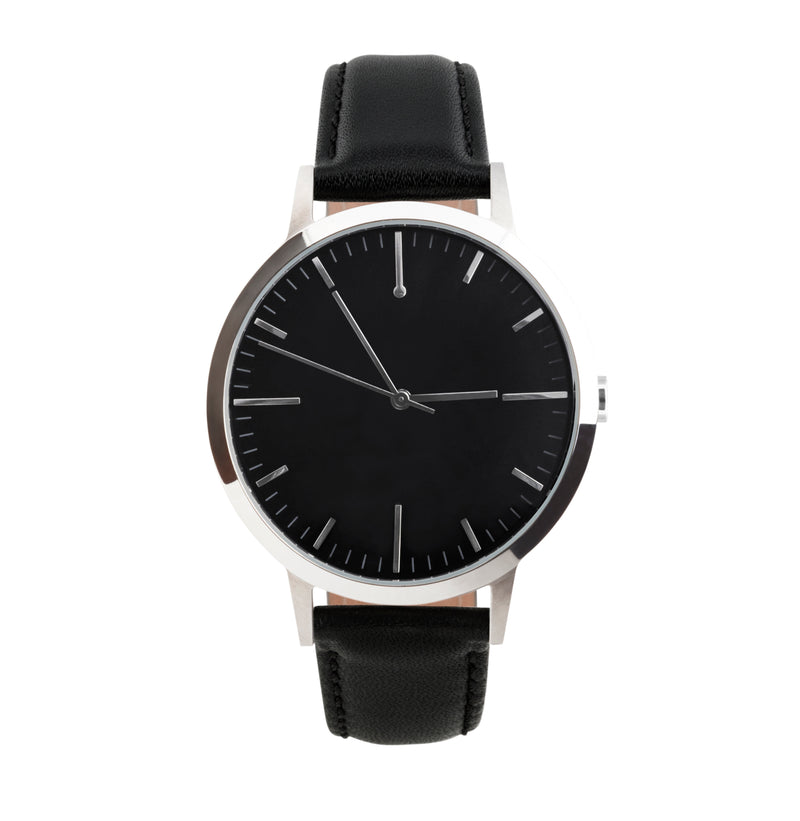 Buy Silver & Black Dial Mens Watch - Freedom To Exist