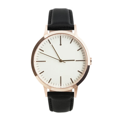 fte4015 - 40mm - Rose Gold & Black - Men's & Women's unbranded Minimalist Watch - fte