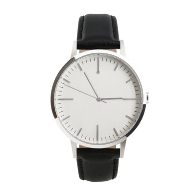 fte4208 - 40mm - Silver & Black - Men's & Women's unbranded Minimalist Watch - fte