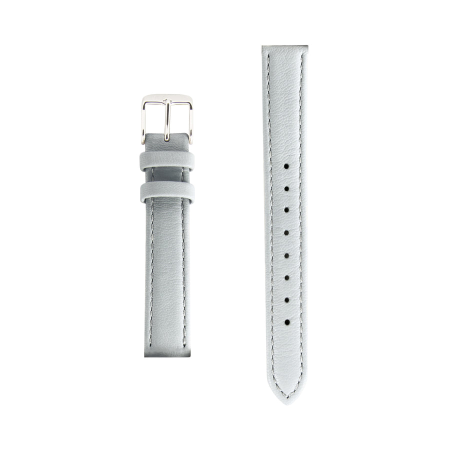 Grey Italian Leather Small Watch Strap