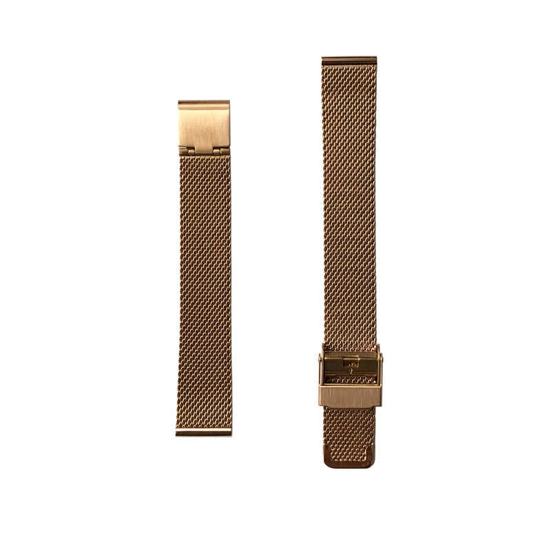 Milanese Mesh - Rose Gold Watch Strap - 15mm - Replacement - Under £30